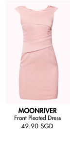 MOONRIVER Front Pleated Dress - 49.90 SGD