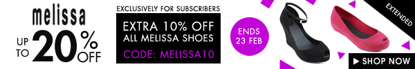 20% off Melissa + Extra 10% off for only subscribers