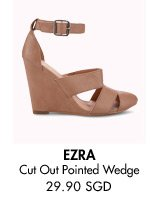 EZRA Cut Out Pointed Wedge - 29.90 SGD