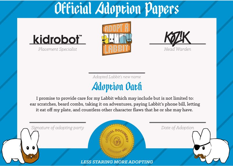 Official Adoption Papers.