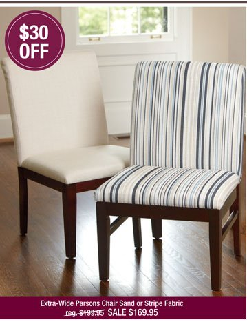 LivingXL® Extra-Wide Parsons Chair