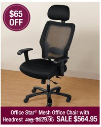 Office Star® Mesh Office Chair with Headrest