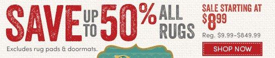 Save up to 50% during Rug Caravan