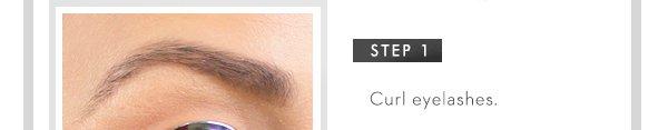Step 1. Curl eyelashes.