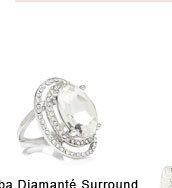 Alba Diamante Surround Ring