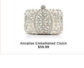 Annalise Embellished Clutch
