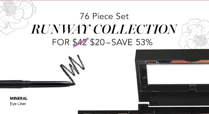 76 Pice Set Runway Collection For $20 - Save 53%