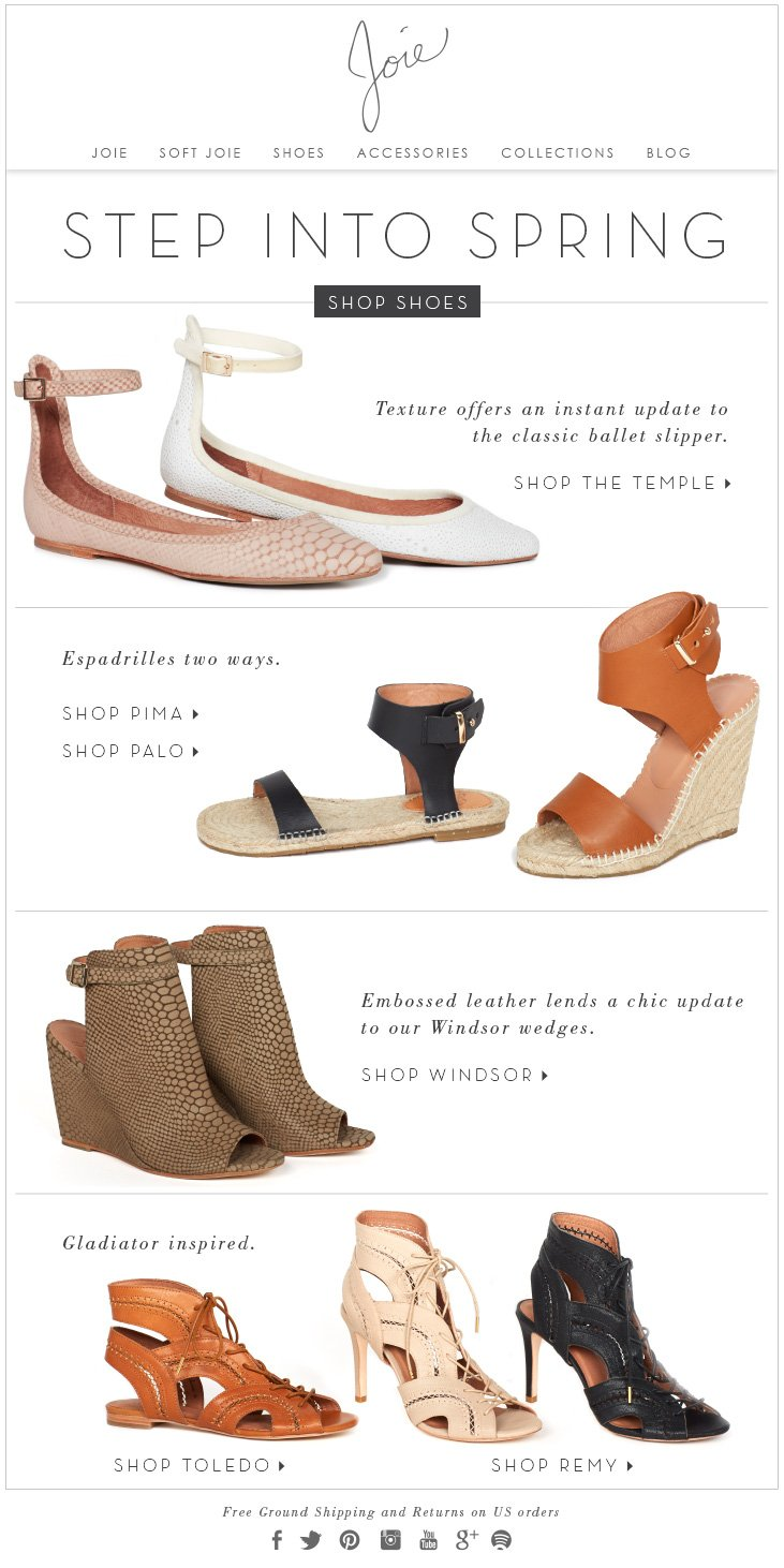 STEP INTO SPRING SHOP SHOES