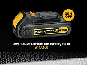 20V 1.5 AH Lithium-Ion Battery Pack. #11A168