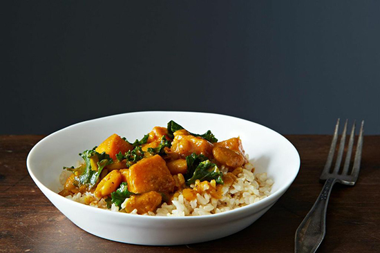 Kale, White Bean &Sweet Potato Korma