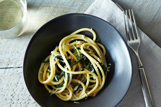 Pici Pasta with Dandelion Greens