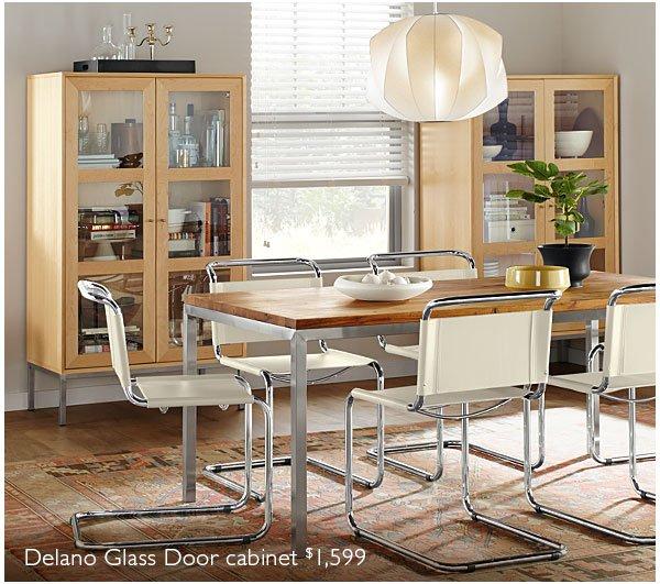 Delano Glass Door cabinet $1,599