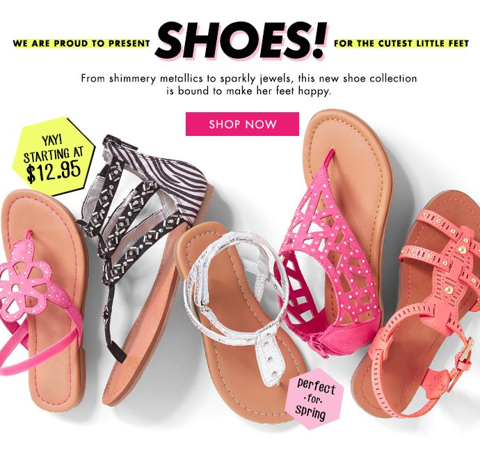 New Shoes! Starting At $12.95!