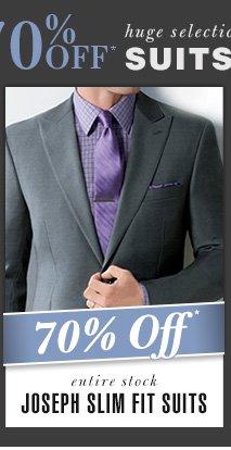 Joseph Slim Fit Suits - 70% Off*