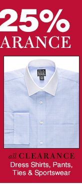 Clearance Dress Shirts, Sportswear & more - reduced 25%