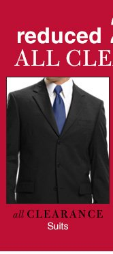 Clearance Suits & Sportcoats - reduced 25%