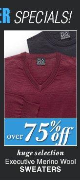 DOORBUSTER Executive Merino Wool Sweaters - over 75% Off*