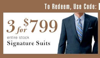 Signature Suits - 3 for $799 USD