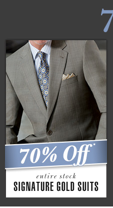 Signature Gold Suits - 70% Off*