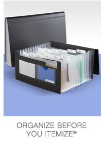 Organize  before you itemize