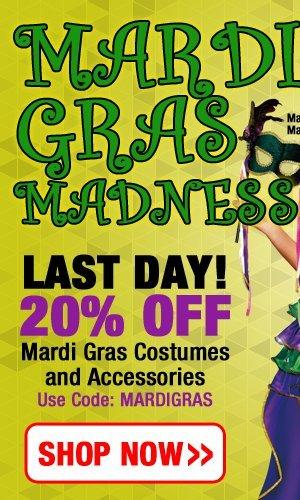 20% Off Mardi Gras