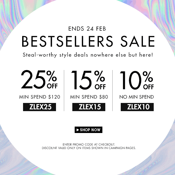 Up to 25% Bestseller Sale