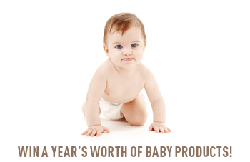 WIN A YEAR'S WORTH OF BABY PRODUCTS!