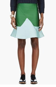 OSTWALD HELGASON Green & Mint Double Face Skirt for women