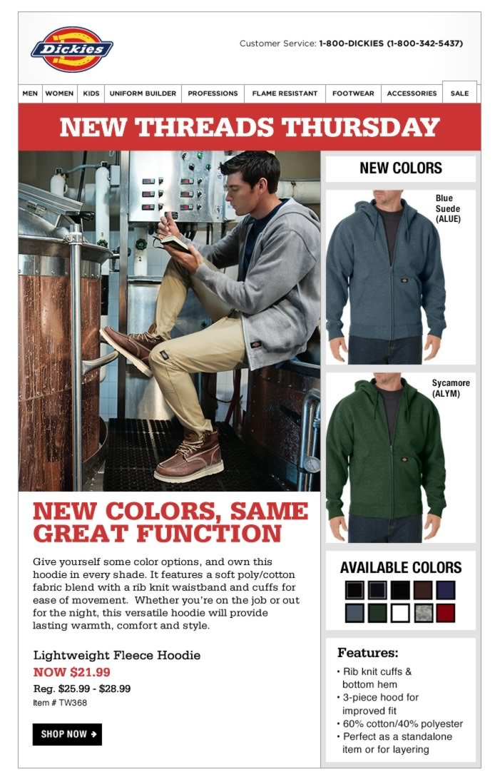 New Threads Thursday: Lightweight Hoodie in New Colors