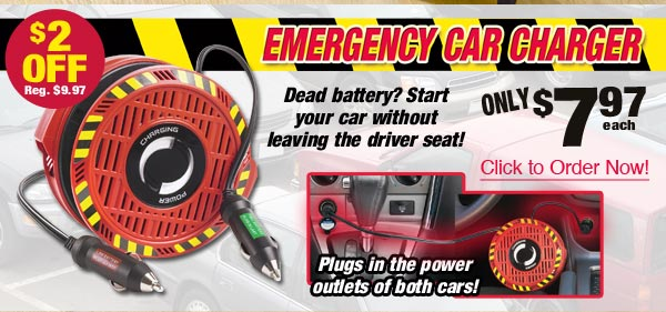 Emergency Car Charger $7.97 each