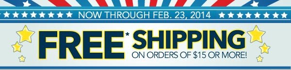 FREE* Shipping!