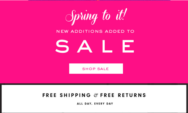 Spring to it! New additions added to SALE. SHOP SALE.
