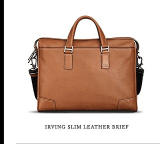 Irving Slim Leather Brief - Shop Now