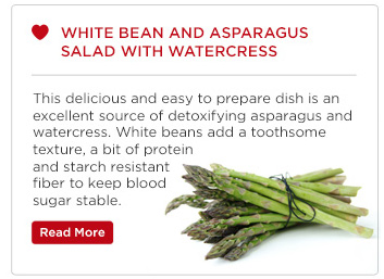 White Bean and Aparagus Salad with Watercress