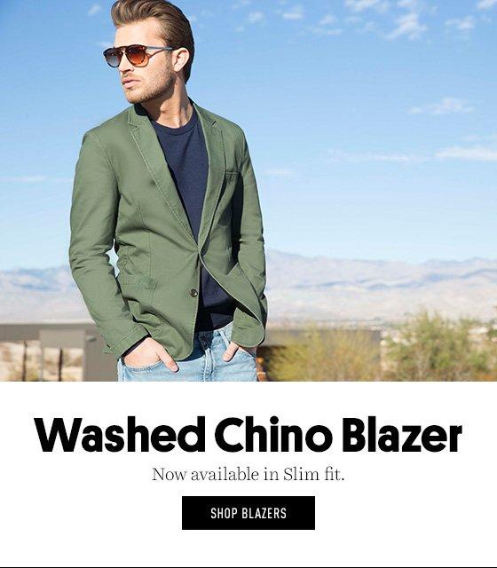 Washed Chino Blazer now in slim