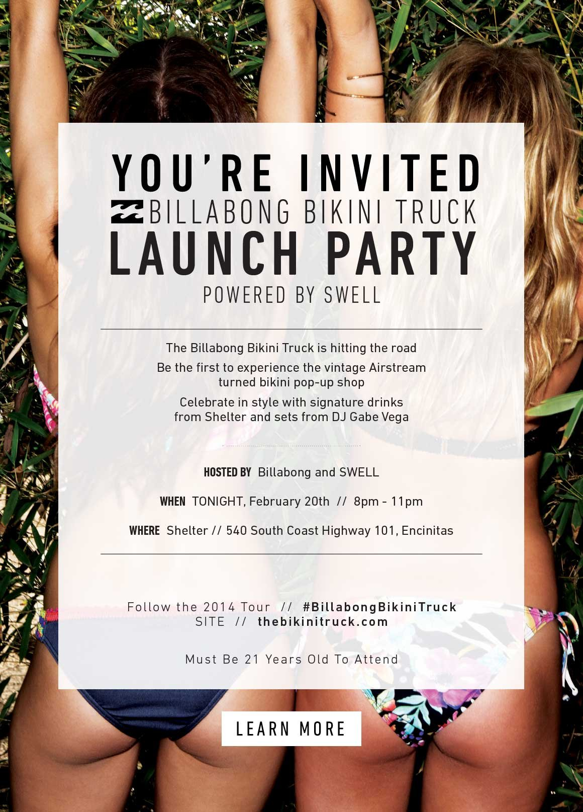 Your Invited: The Billabong Bikini Truck Launch Party