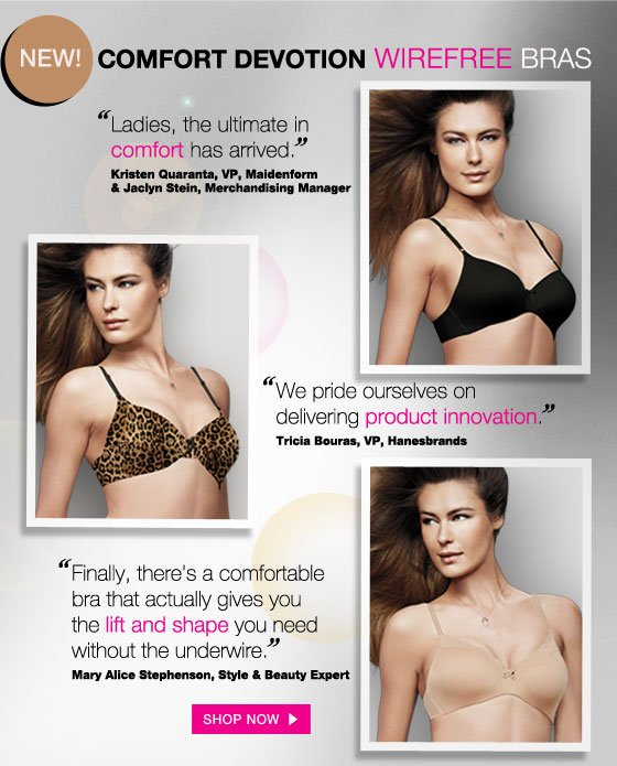 New Comfort Devotion Wirefree Bras - See What the Experts Say
