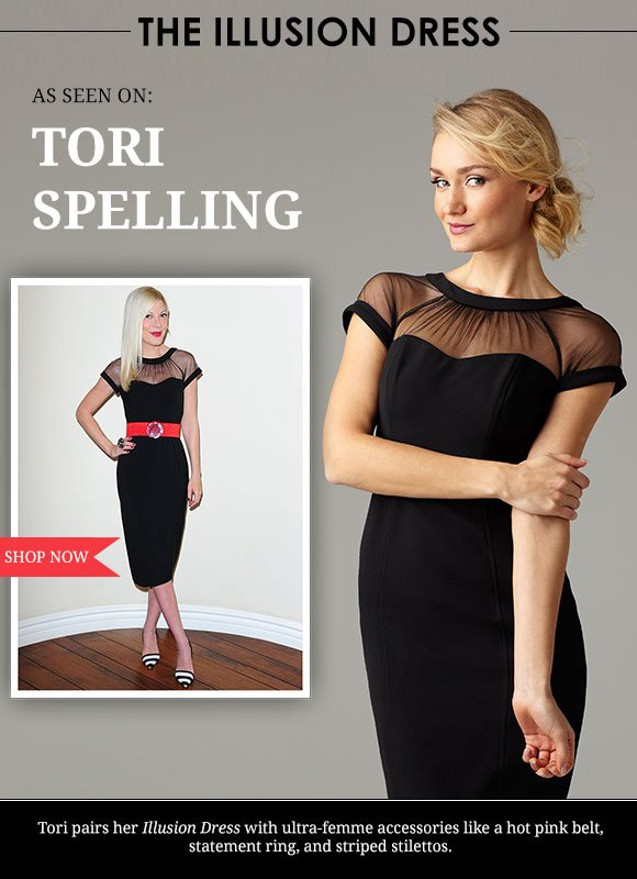 As seen on TORI SPELLING!