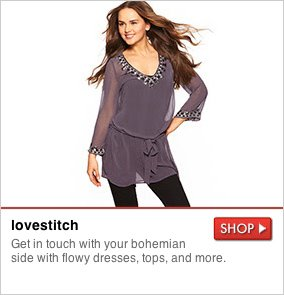 lovestitch - Get in touch with your bohemian side with flowy dresses, tops, and more. SHOP