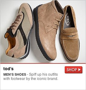 tod's - MEN'S SHOES- Spiff up his outfits with footwear by the iconic brand. SHOP