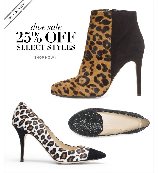 Shoe Sale! 25% Off Select Styles In Our Italian-Made Shoe Collection