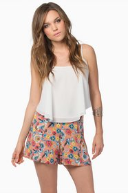 Giselle Watercolor Shorts 25