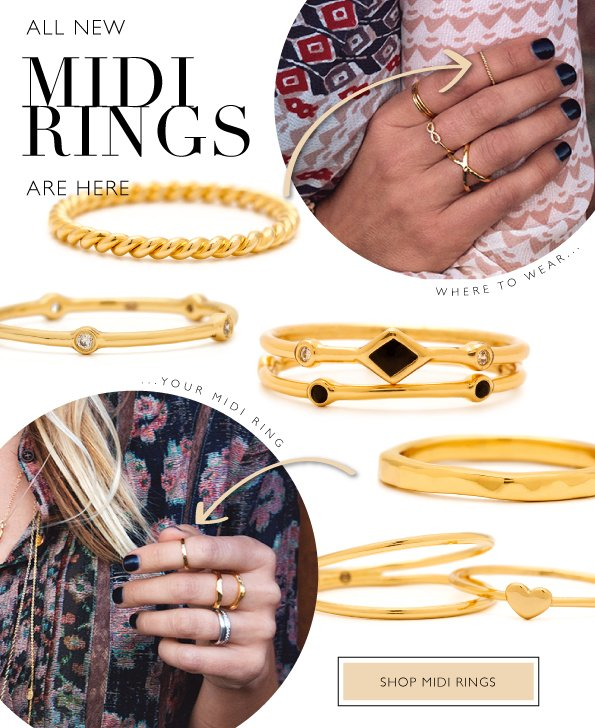Where To Wear | Midi Rings