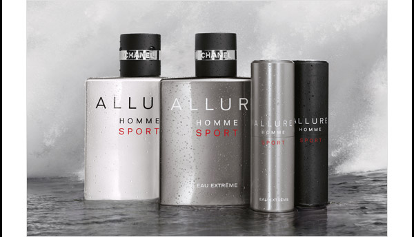 ON THE MOVE Go anywhere with the fresh and invigorating  ALLURE HOMME SPORT and ALLURE HOMME SPORT EAU EXTREME, offered in a  perfectly portable travel spray.