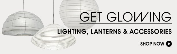 Get Glowing. Shop Lighting, Lanterns & Accessories.