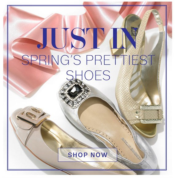 Just In Spring's Prettiest Shoes. Shop Now