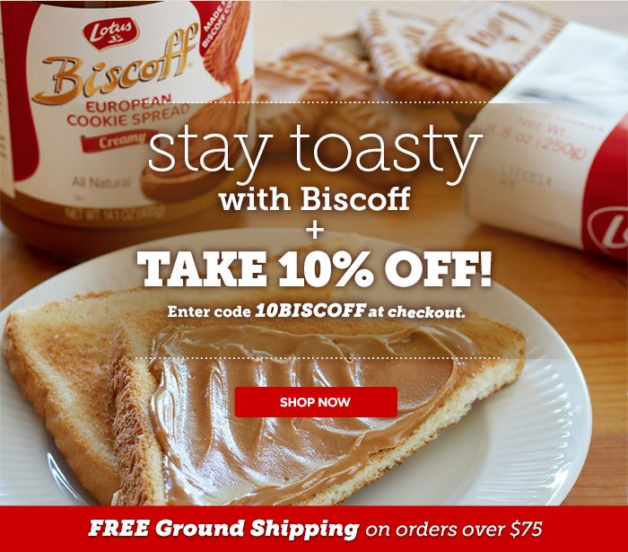 10% off from Biscoff - Enter code 10BISCOFF at checkout to receive savings.