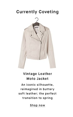 Currently Coveting: Vintage Leather Moto Jacket