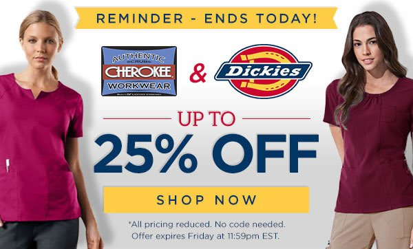 WorkWear & Dickies up to 25% OFF - Shop Now