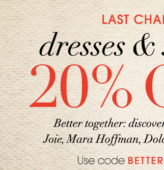LAST CHANCE dresses & sandals 20% OFF